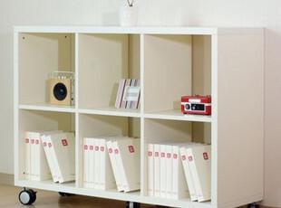 乐思家简约时尚家具书柜书架宜家韩式风格储物柜移动六格柜SG060,收纳柜,