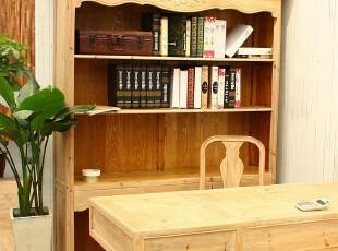 法式乡村风格外贸家具 复古做旧松木三抽书柜 陈列柜T607,收纳柜,