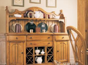 艾米尼奥地中海实木家具餐厅系列 餐边柜Y0334(下)+Y0343(上),收纳柜,