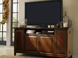 美式简约家具 实木电视柜 美式实木客厅电视柜 非达芬奇家具,收纳柜,