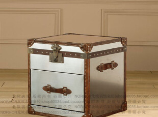 北欧表情/顶级品质家具/罗凯堡真皮不锈钢单抽箱/茶几/床头柜,收纳柜,