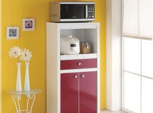新款 简约餐柜 厨房 餐边柜 宜家橱柜 微波炉柜,收纳柜,