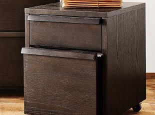 汉人居家具-储物柜/床头柜/文件柜 宜家实木双层双抽豪华抽柜 W15,收纳柜,