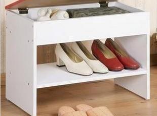 【雅仕邦】时尚简约田园 白色多功能换鞋柜 换鞋凳 鞋架 带储物盒,收纳柜,