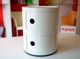 意大利Kartell 白色双门 多功能储物柜/床头柜,收纳柜,