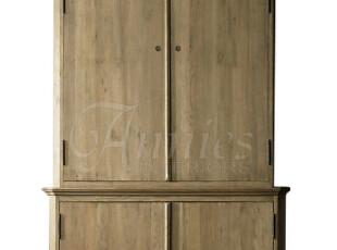 出口美国罗南波浪圆顶四门橡木衣柜门厅柜现货,收纳柜,
