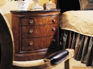 欧美莲 美式家具 欧式实木简约 卧室 新古典 床头柜 581-422,收纳柜,