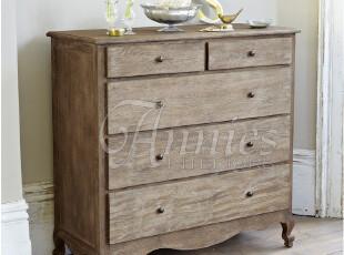 出口法国卧室套房系列橡木五斗柜抽屉柜餐边柜现货,收纳柜,