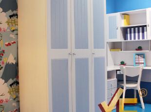 雅思洛 儿童房家具 儿童衣柜 衣橱 韩式衣柜 三门衣柜 A-92E,收纳柜,
