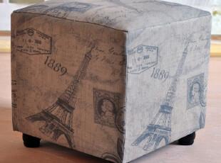 【鼎礼家居】仿古亚麻爱菲铁塔换鞋凳/装饰/欧美风格/MJJ2192,收纳柜,