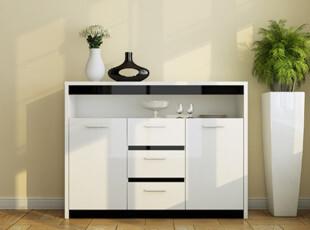 包邮特价 餐边柜 橱柜 收纳柜 储物柜 简约 宜家 现代 时尚 黑白,收纳柜,