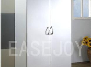 宜家款简约浮雕白对开门大衣柜衣橱简易衣柜储物柜【乐意家具】,收纳柜,