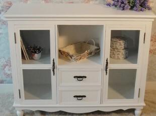 简约家居饰品白色韩式餐边柜 玻璃柜 装饰柜 新款,收纳柜,