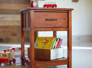 PotteryBarn环保床头柜定制儿童实木家具定做 CP-KSCP-CZ-P01,收纳柜,