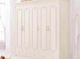 【方格诚品】韩式家具 韩式实木衣柜 五门大衣柜,收纳柜,