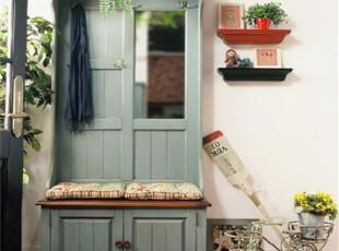 比邻乡村普林斯特门厅柜 实木定制 美式地中海欧式田园风格 白色,收纳柜,