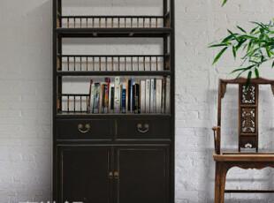 【东游记 出口家具】Z中式做旧复古书柜/书架/展示柜,收纳柜,