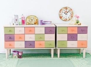 七彩色收纳柜 杂物柜 儿童房 抽屉柜 整理柜,收纳柜,