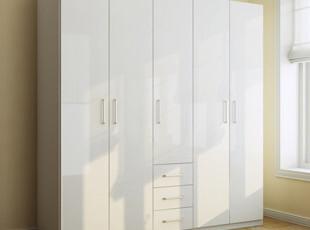 包邮特价 五门衣柜 衣橱 带抽屉 简约 时尚 现代 宜家 卧房 家具,收纳柜,