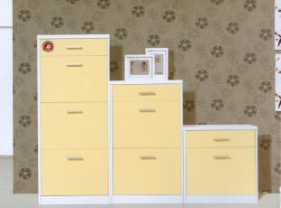优居家具 烤漆白色翻斗 超薄鞋柜 现代简约创意门厅柜玄关柜2-36,收纳柜,