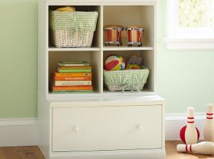 Pottery Barn儿童边柜定制全实木儿童家具定做 CP-KSCO-BG-P07,收纳柜,