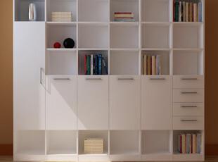 包邮特价 六门书柜 书架 组合 简约 宜家 板式 组合 书房 家具,收纳柜,