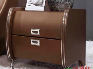 沁源轩品牌小柜子收纳柜储物柜双人真皮布艺软床之床头柜Q-D10068,收纳柜,