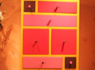 家居七斗柜实木宜家韩式收纳柜储物柜抽屉柜家具特价柜子彩色斗橱,收纳柜,