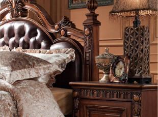 莫/抽屉柜/床头橱/床柜/欧式家具/实木床头柜金怡家具/欧式床头柜,收纳柜,