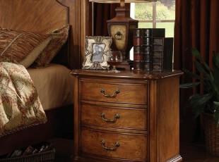 木家缘 复古欧式家具 实木欧式床头柜 床边柜 储物柜 收纳柜,收纳柜,