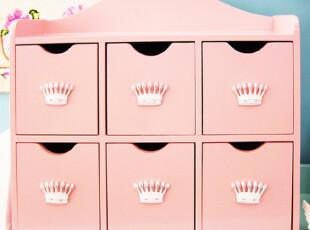 『韩国网站代购』公主皇冠 粉色浪漫6格收纳柜,收纳柜,