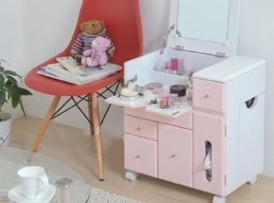 华森化妆柜/梳妆台/实木储物柜/带移动轮镜子/精品限量HS140,收纳柜,