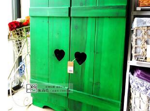 地中海 美式乡村风格 绿色做旧鞋柜/地中海家具/复古/收纳鞋柜,收纳柜,