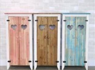 七彩虹—乡村做旧 地中海风格家具 实木鞋柜/餐边柜 田园书柜,收纳柜,