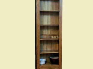 美邻实木家具 外贸白橡木书柜 高5层书柜 窄书架 书橱 特价促销,收纳柜,