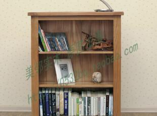美邻实木家具 白橡木全实木书柜 现代简约实木书架 欧式书橱置物,收纳柜,