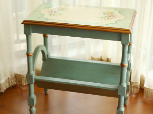 【店庆狂欢】玐玖琦珥正品家具欧式彩绘手绘床头柜方桌收纳柜边柜,收纳柜,