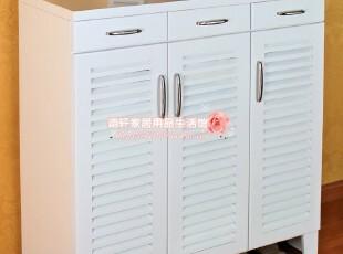 出口日本实木家具、多功能三门百叶鞋柜、玄关柜、门厅柜特价,收纳柜,