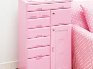 可爱公主房储物柜、实木传台  床头柜  文件柜。特价385,收纳柜,