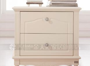金天拓 特价床头柜 时尚韩式田园储物柜 欧式现代简约实木柱柜630,收纳柜,