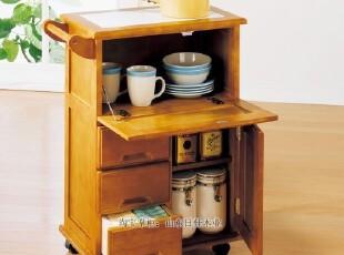 热销碗筷柜/餐边柜、小推车【出口日本实木家具】蔬菜柜,收纳柜,