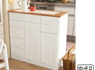 出口日本正品 实木家具餐边柜 厨房收纳柜、蔬菜柜、电器多用途柜,收纳柜,