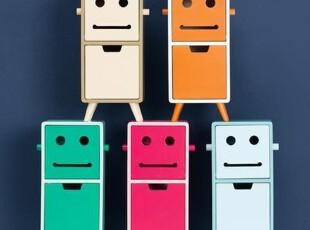 『韩国网站代购』超可爱超快乐机器人表情木质收纳柜,收纳柜,