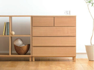 MUJI无印良品 木制四层柜抽屉柜陈列柜收纳柜,收纳柜,