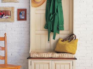 乡村岁月实木衣帽柜 比邻乡村风格 北京美式 地中海家具门厅柜,收纳柜,