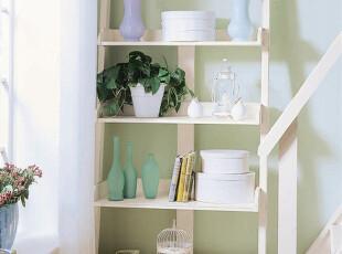 白色 田园乡村 地中海风格 美晨之家 实木家具定做 书架 搁物架,收纳柜,