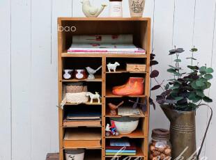 Bao Zakka 杂货旧木 仿古 12层文件柜 分类收纳柜 展示柜 09727,收纳柜,