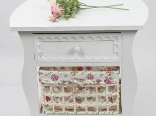新品 田园时尚简约床头柜 收纳柜 现代宜家白色储物柜,收纳柜,