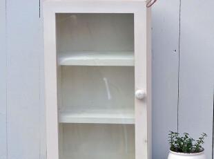 Bao ZAKKA 旧木 水洗白 玻璃门 3层 收纳柜 展示柜 WJ71,收纳柜,