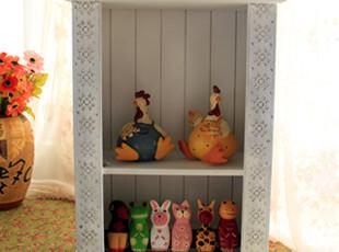 收纳柜/收纳盒 太子周ZAKKA外贸家居复古白色双层收纳柜,收纳柜,